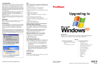 Windows XP Upgrade pamphlet