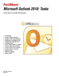 Microsoft Outlook 2010: Tasks